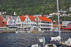 View to bergen harbor, norway Royalty Free Stock Photos