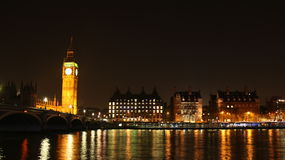 View to Big Ben at night Royalty Free Stock Photography