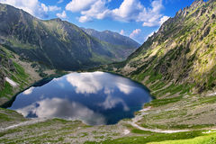 View to Black Pond from Tatras Stock Photo