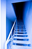 View to blue empty staircase Stock Image