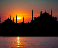 View to Blue Mosque and Hagia Sophia Stock Photography
