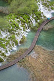 View to the boardwalk at Plitvice Lakes (Croatia) Royalty Free Stock Photos