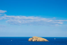 View to boats in the bay of Monte Argentario Stock Photography