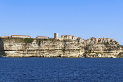 View to the Bonifacio. Royalty Free Stock Images