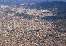 View to brasil from aircraft. View to brasil from flying aircraft Royalty Free Stock Photo