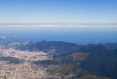 View to brasil from aircraft. View to brasil from flying aircraft Royalty Free Stock Photography