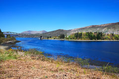 View to the bridge on Loch Leven, Scotland Royalty Free Stock Image