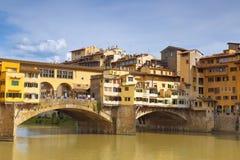 View to bridge Ponte Vecchio Stock Photo