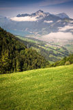 View to the Brunnen and Vierwaldstattersee from Stoos Stock Photo