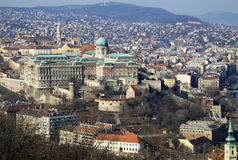 View to Buda Castle, Budapest, Hungary. February 2012 Stock Photography