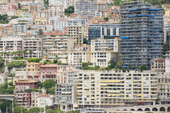 View to the buildings of Monte Carlo in Monaco, Monaco. Stock Photos