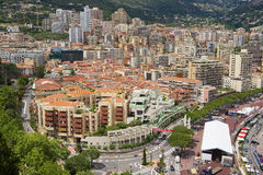 View to the buildings and roofs in downtown Monaco, Monaco. Royalty Free Stock Photos