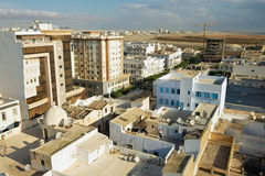 View to the buildings of Sfax residential area in Sfax, Tunisia. Stock Image
