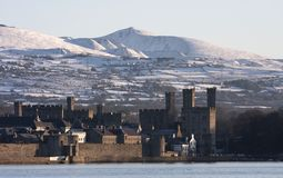 View to Caernarfon Stock Photo