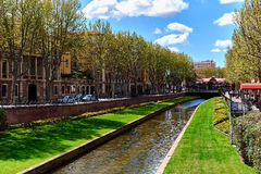 View to the Canal of Perpignan in springtime. France Royalty Free Stock Photos