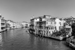 View to the Canale Grande in Venice, Italy. View to the Canale Grande in Venice - Italy stock photography