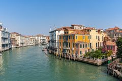 View to the Canale Grande in Venice, Italy. View to the famous Canale Grande in Venice, Italy royalty free stock photos