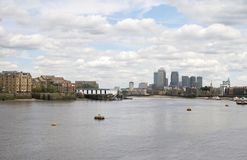 View to Canary Wharf. London. UK Stock Photography