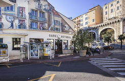 View to Cannes central bus station, France Stock Photography