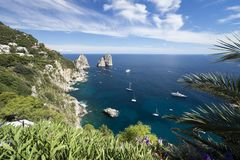 Capri island in Italy royalty free stock image