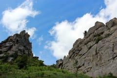 View to Carpathian mountains Stock Photos