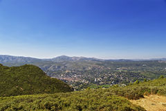 View to Cassis, Provence from mountains in summer Stock Images