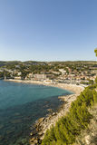 View to Cassis from scenic route de cretes Royalty Free Stock Images