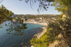 View to Cassis from scenic route de cretes Stock Images