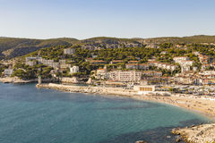 View to Cassis from scenic route de cretes Stock Photography