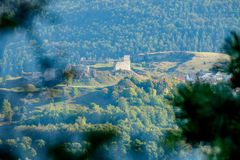 View to the castle of Bopfingen stock images