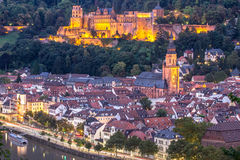 View to castle, Heidelberg, Germany Stock Images