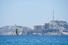 View to the castle if, and the Frioul archipelago, Marseille, Fr Royalty Free Stock Images