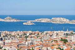 View to the castle if, and the Frioul archipelago, Marseille, Fr Stock Photography