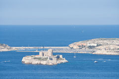View to the castle if, and the Frioul archipelago, Marseille, Fr Royalty Free Stock Image