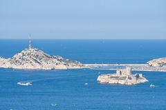 View to the castle if, and the Frioul archipelago, Marseille, Fr Royalty Free Stock Photography