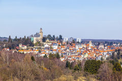 View to the Castle and the town of Kronberg im Taunus Stock Photo
