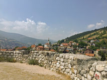 The view to castle in the Travnik. The view from old castle in the Travnik,Bosnia and Herzegovina Stock Images