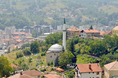 The view to castle in the Travnik. The view from old castle in the Travnik,Bosnia and Herzegovina Stock Photo