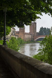 View to Castlevecchio. In Verona, Italy Stock Photography