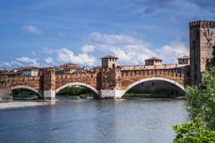 View to Castlevecchio. In Verona, Italy Royalty Free Stock Image
