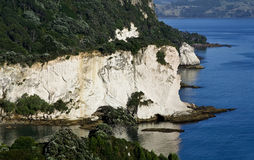 View to Cathedral Cove. On the Coromandel Peninsula in New Zealand Royalty Free Stock Photos
