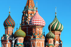 View to Cathedral of Vasily the Blessed Royalty Free Stock Photography