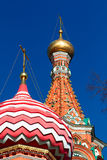 View to Cathedral of Vasily the Blessed Royalty Free Stock Photo