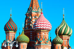 View to Cathedral of Vasily the Blessed Royalty Free Stock Image