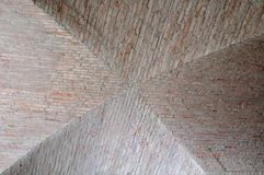 View to a ceiling of bricks and mortar in cross shape Stock Photography