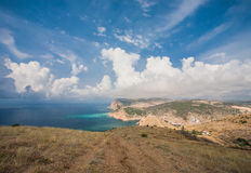 View to Cembalo fortress in Balaklava Royalty Free Stock Photos