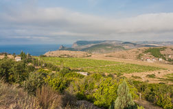 View to Cembalo fortress in Balaklava Royalty Free Stock Photo