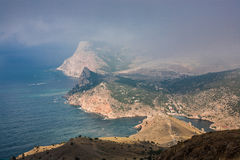 View To Cembalo Fortress In Balaklava Stock Images