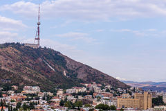 View to the center of Tbilisi Stock Images