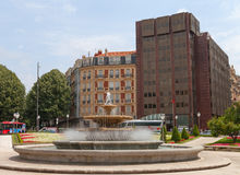 View to the centre of Bilbao. Royalty Free Stock Photography